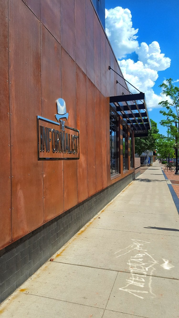The front of a local downtown restaurant called the informalist