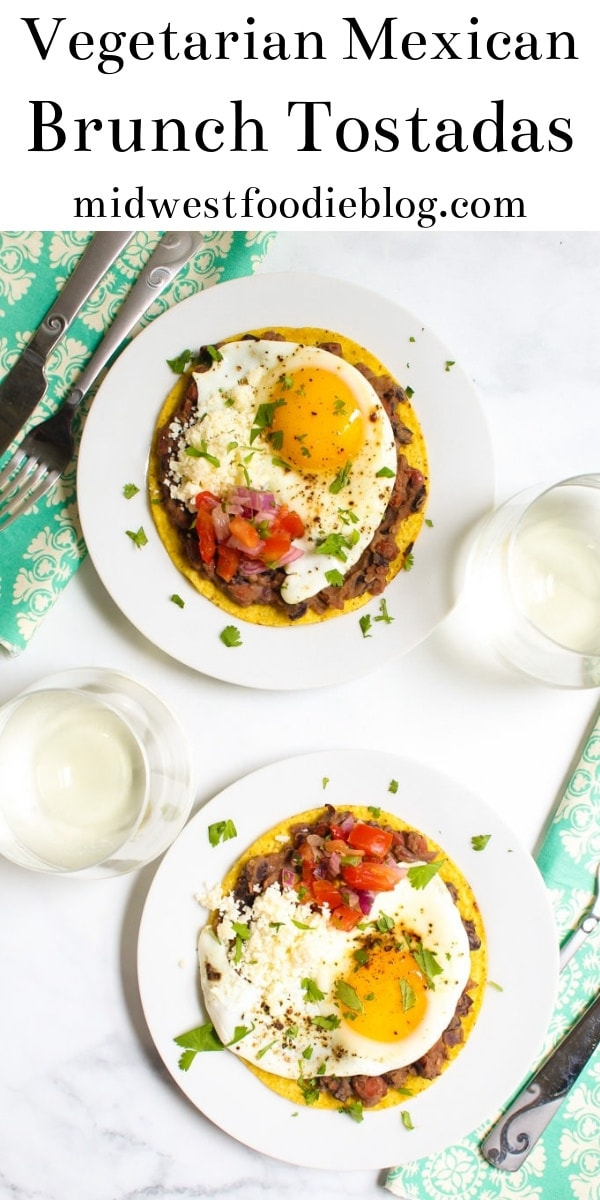 Vegetarian Brunch Tostadas | Midwest Foodie | Fresh flavors combined with healthy, satisfying, whole ingredients transform your boring breakfast into a memorable brunch experience! #midwestfoodie #healthy