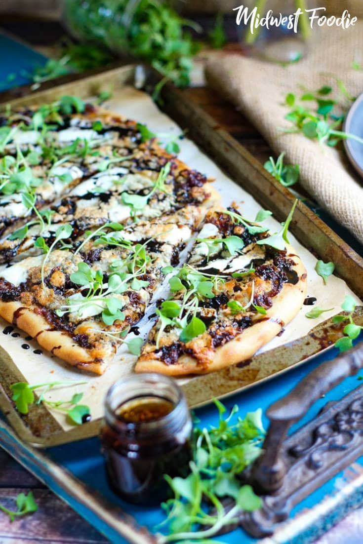 Caramelized Onion & Gorgonzola Flatbread   Midwest Foodie