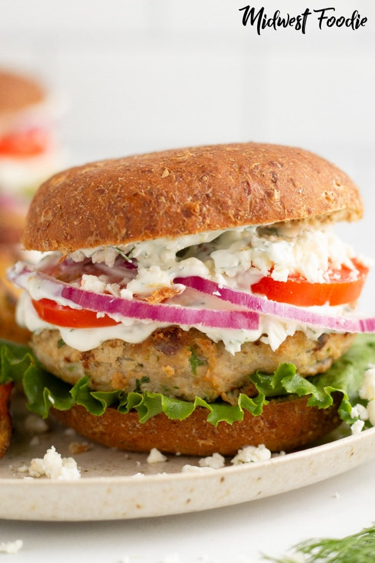Greek Turkey Burgers | Midwest Foodie #midwestfoodie #healthy #mealprep
