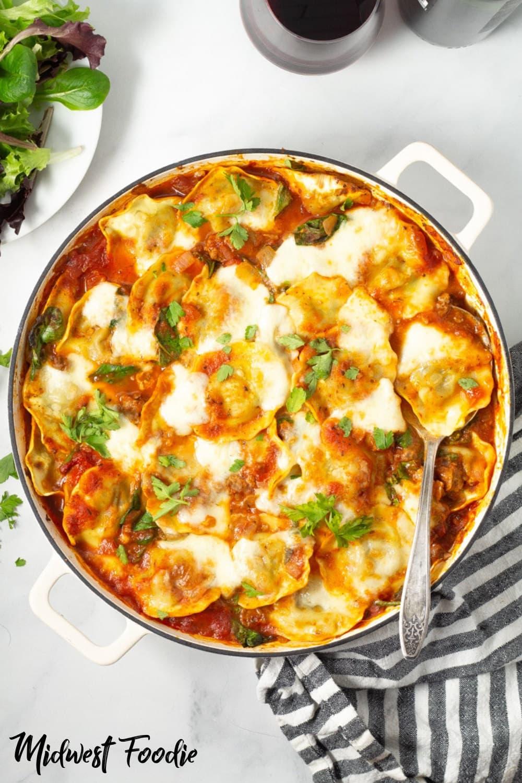 Midwest Foodie | 30 Minute Baked Ravioli