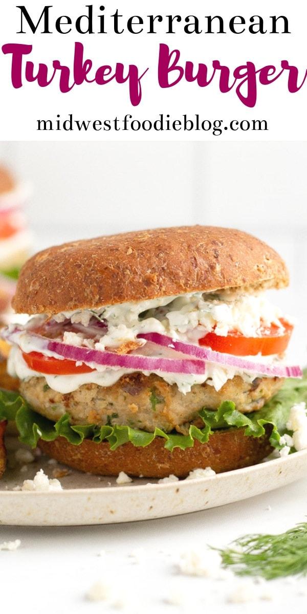 Greek Turkey Burgers | Midwest Foodie #midwestfoodie #healthy #mealprep