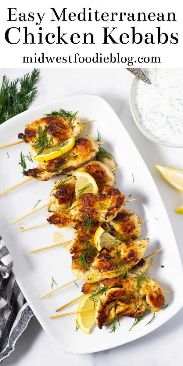 Greek Chicken Kebabs | Midwest Foodie | 45 minutes from start to finish (30 minutes of which is marinating!) and your healthy lunches are prepped for the entire week!
