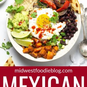 Pinterest pin of Mexican breakfast bowls