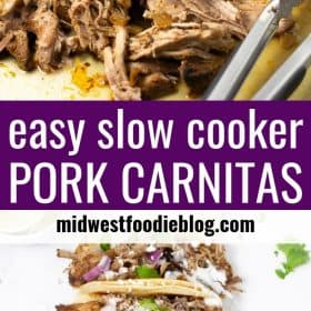 Pinterest pin of pork carnitas