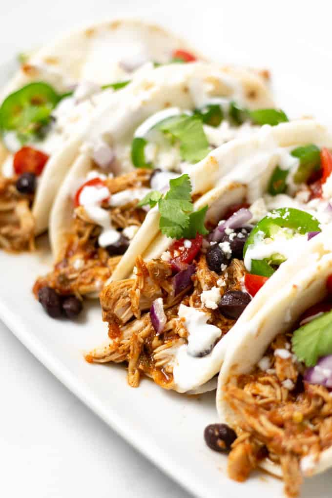 Slow Cooker Shredded Chicken Tacos Midwest Foodie