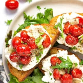 Tomato Toast With Ricotta Midwest Foodie