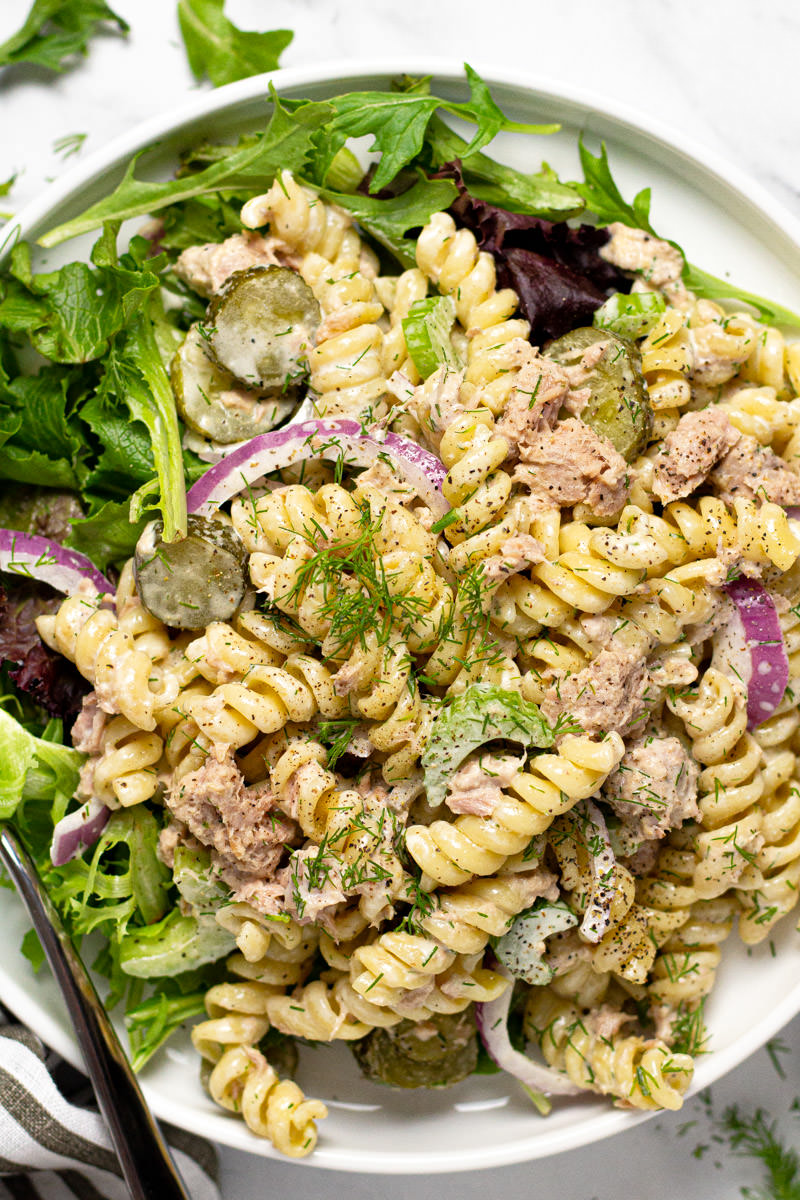 Tuna Pasta Salad Recipe Midwest Foodie