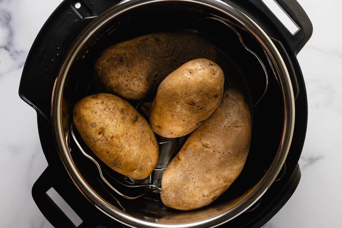 Russet potatoes in an instant pot